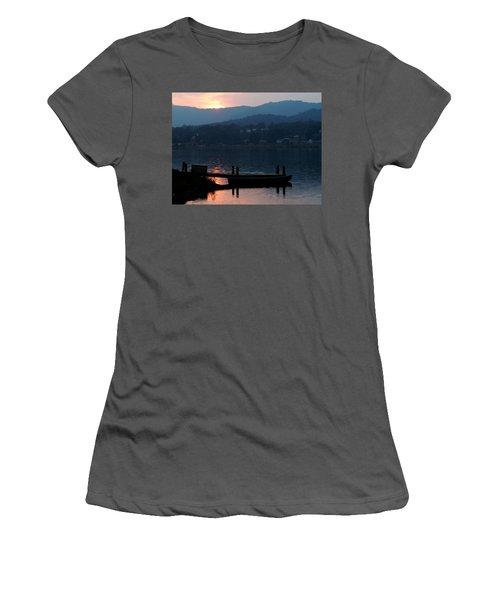 Lake J Sunset Women's T-Shirt (Athletic Fit)