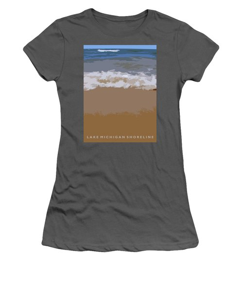Lake Michigan Shoreline Women's T-Shirt (Athletic Fit)