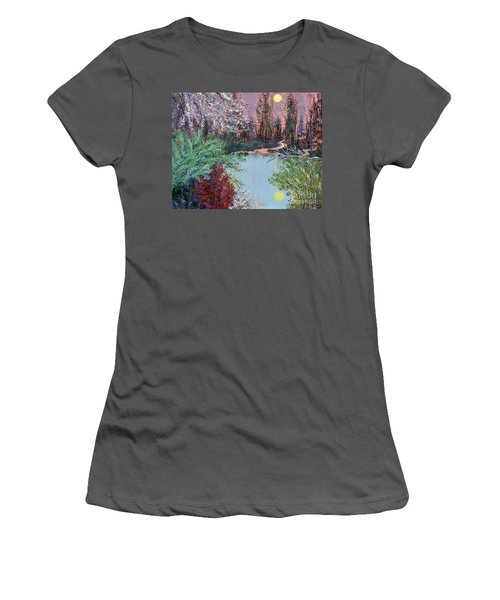Lake Tranquility Women's T-Shirt (Athletic Fit)