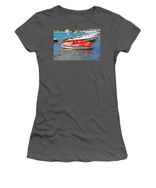 Lakka Harbour Paxos Women's T-Shirt (Athletic Fit)