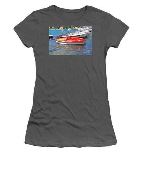 Lakka Harbour Paxos Women's T-Shirt (Athletic Fit)