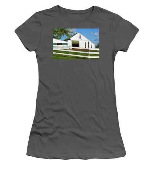 Lancaster County Tobacco Barn Women's T-Shirt (Athletic Fit)
