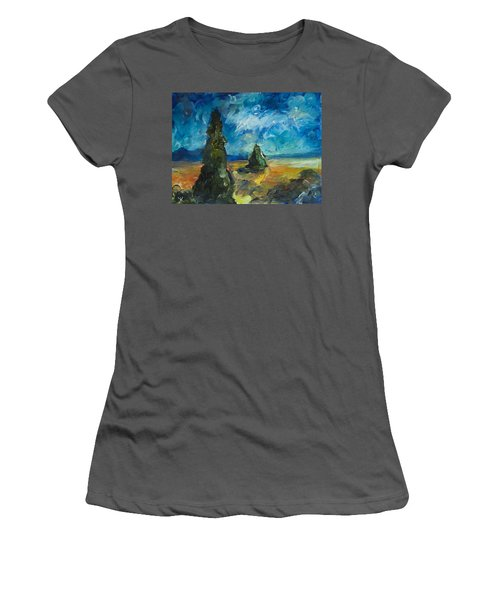 Emerald Spires Women's T-Shirt (Athletic Fit)