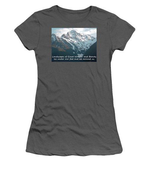 Landscapes Of Great Wonder  Women's T-Shirt (Athletic Fit)