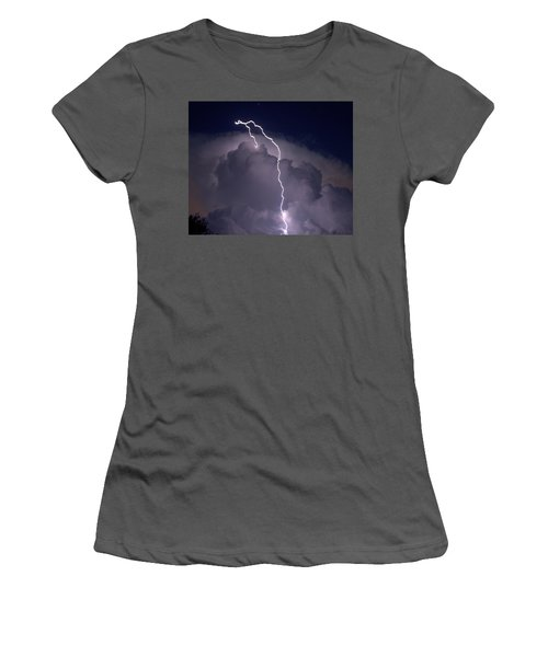 Women's T-Shirt (Junior Cut) featuring the photograph Lashing Out by Charlotte Schafer