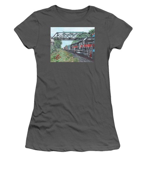 Last Train Under The Bridge Women's T-Shirt (Athletic Fit)
