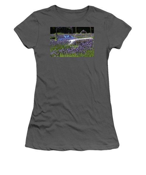 Women's T-Shirt (Junior Cut) featuring the photograph Lavender Dreams by Cheryl Hoyle