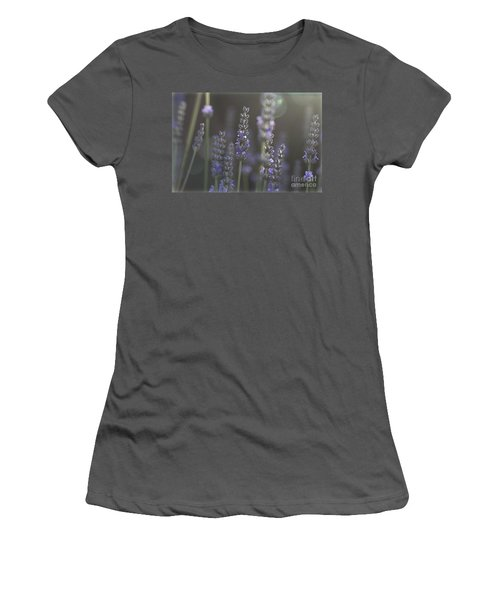 Women's T-Shirt (Junior Cut) featuring the photograph Lavender Flare. by Clare Bambers