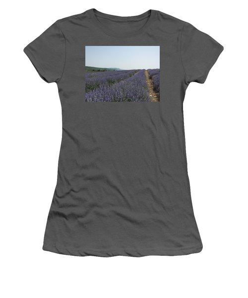 Women's T-Shirt (Junior Cut) featuring the photograph Lavender Sky by Pema Hou