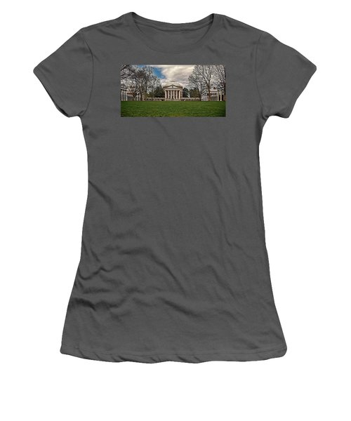 Lawn And Rotunda At University Of Virginia Women's T-Shirt (Athletic Fit)