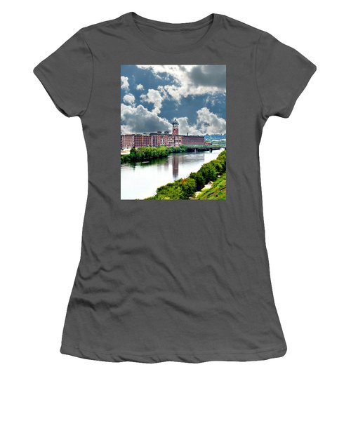 Lawrence Ma Historic Clock Tower Women's T-Shirt (Athletic Fit)