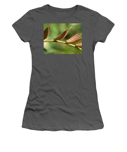 Leaf Bridge Women's T-Shirt (Athletic Fit)