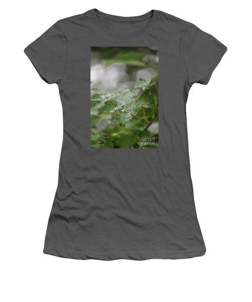 Leafy Raindrops Women's T-Shirt (Athletic Fit)