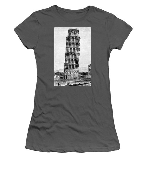 Leaning Tower Of Pisa 1870 Drawing Women's T-Shirt (Athletic Fit)
