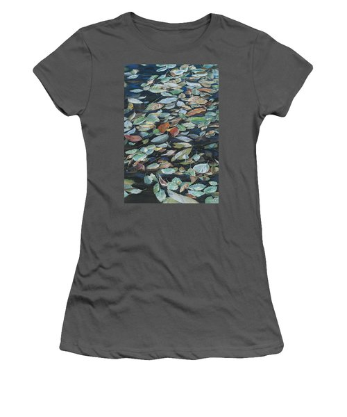 Leaves On Pond Women's T-Shirt (Athletic Fit)