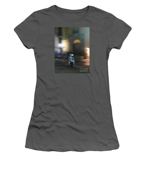 Life Zooms By  Women's T-Shirt (Junior Cut) by Nora Boghossian