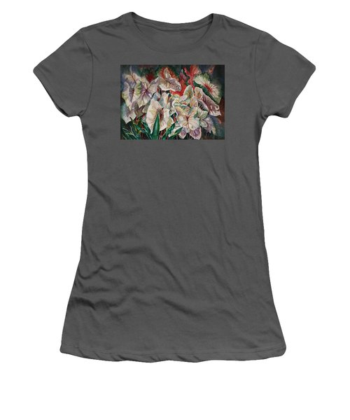 Light Play Caladiums Women's T-Shirt (Athletic Fit)