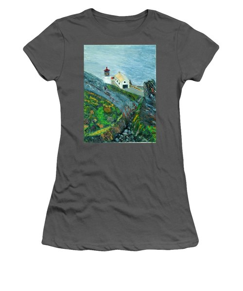 Lighthouse At Point Reyes California Women's T-Shirt (Athletic Fit)
