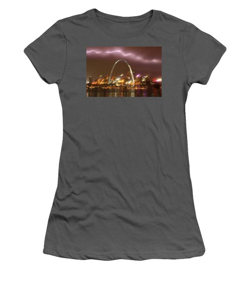 Lightning Over The Arch Women's T-Shirt (Athletic Fit)