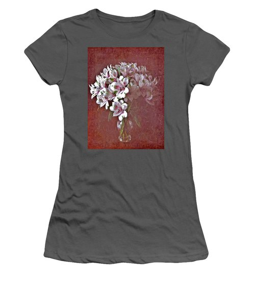 Women's T-Shirt (Junior Cut) featuring the photograph Lilies In Vase by Diane Alexander
