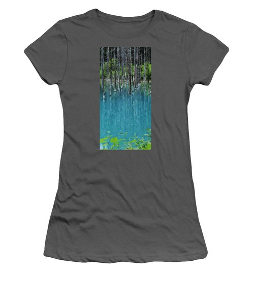 Liquid Forest Women's T-Shirt (Athletic Fit)