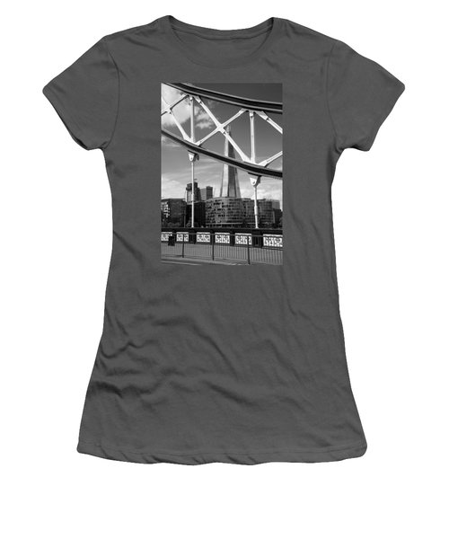 Women's T-Shirt (Junior Cut) featuring the photograph London Bridge With The Shard by Chevy Fleet