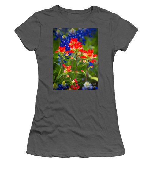 Lone Star Blooms Women's T-Shirt (Athletic Fit)
