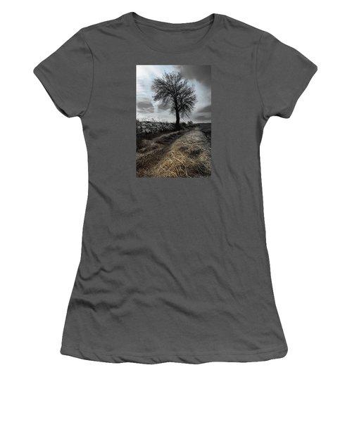 Women's T-Shirt (Junior Cut) featuring the photograph Lone Tree by Edgar Laureano