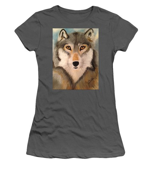 Looking At A Timber Wolf Women's T-Shirt (Athletic Fit)