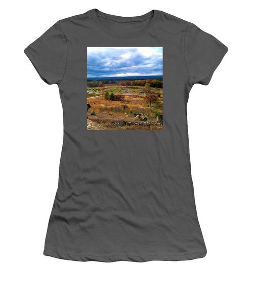 Looking Over The Gettysburg Battlefield Women's T-Shirt (Athletic Fit)