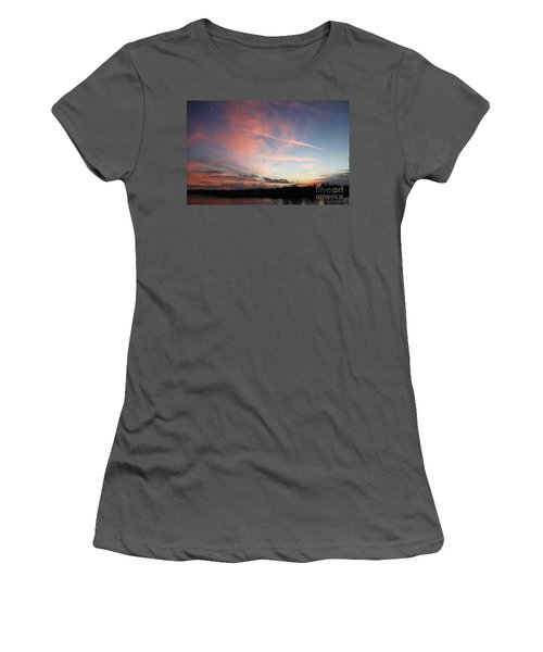 Women's T-Shirt (Junior Cut) featuring the photograph Louisiana Sunset In Lacombe by Luana K Perez