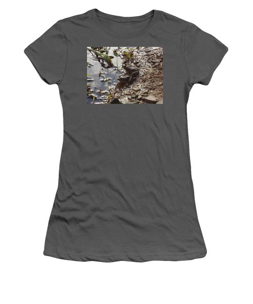 Women's T-Shirt (Junior Cut) featuring the photograph Love Frogs by Michael Porchik