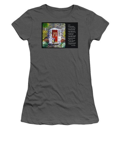 Love Women's T-Shirt (Junior Cut) by Ron Haist