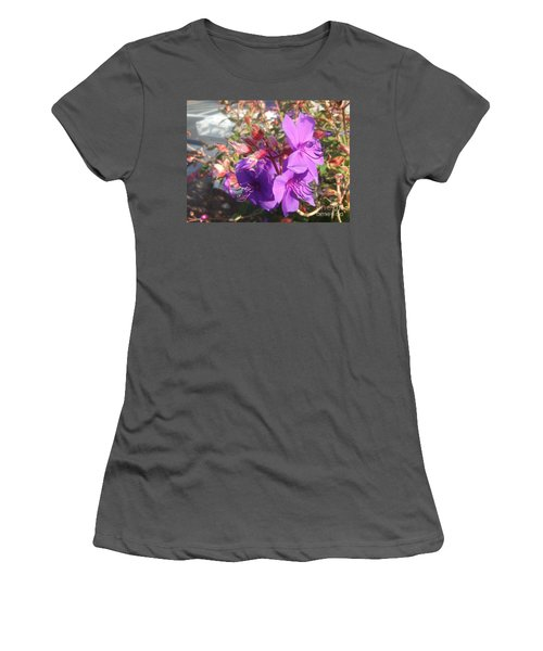 Women's T-Shirt (Junior Cut) featuring the photograph Lovely Purple Flower by Jasna Gopic