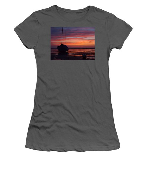 Sunrise At Low Tide Women's T-Shirt (Athletic Fit)