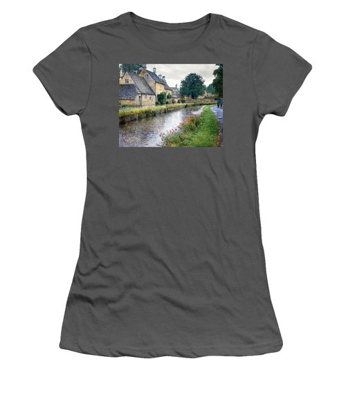 Lower Slaughter Women's T-Shirt (Junior Cut) by William Beuther