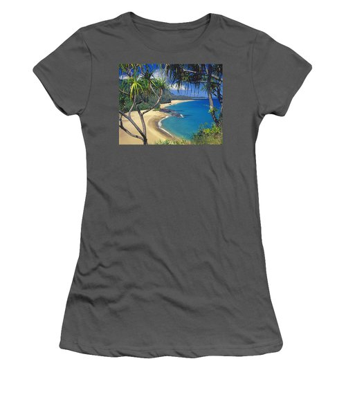 Lumahai Beach Women's T-Shirt (Athletic Fit)