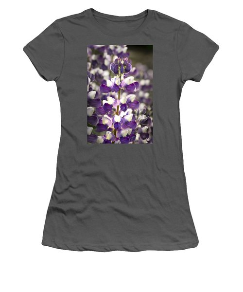 Women's T-Shirt (Junior Cut) featuring the photograph Lupine Wildflowers by Sonya Lang