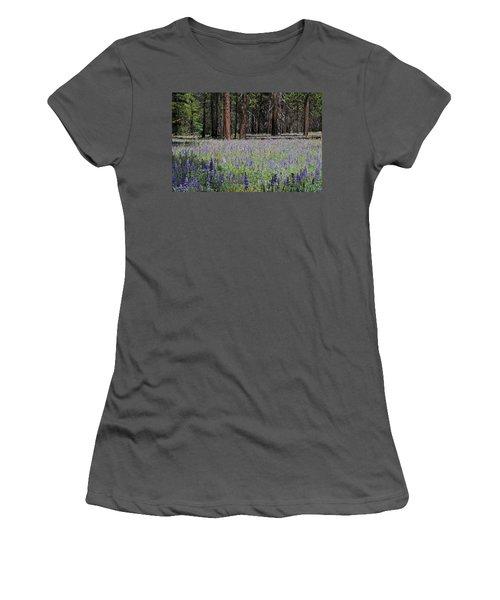 Lupines In Yosemite Valley Women's T-Shirt (Junior Cut) by Lynn Bauer