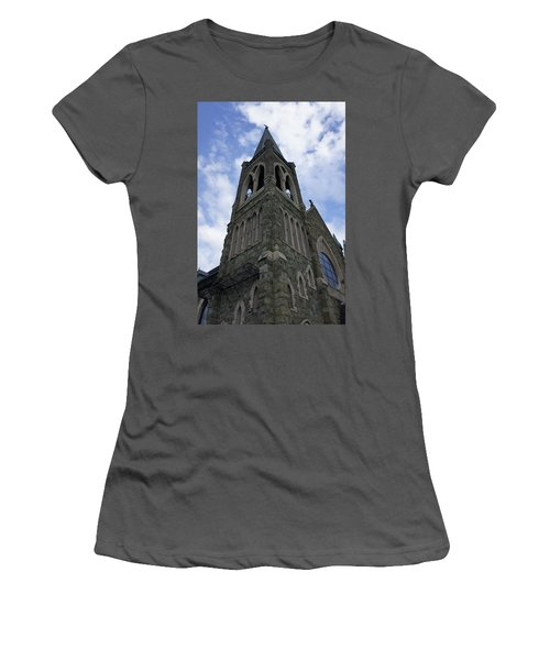 Women's T-Shirt (Junior Cut) featuring the photograph Luray Chapel by Laurie Perry