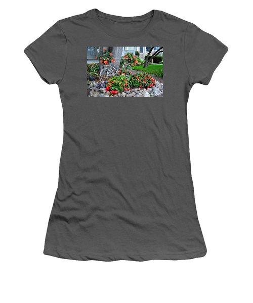 Mackinac Island Garden Women's T-Shirt (Athletic Fit)