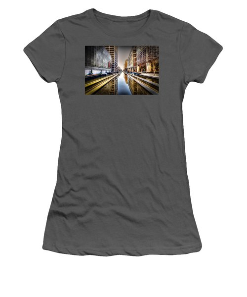 Main Street Square Women's T-Shirt (Athletic Fit)