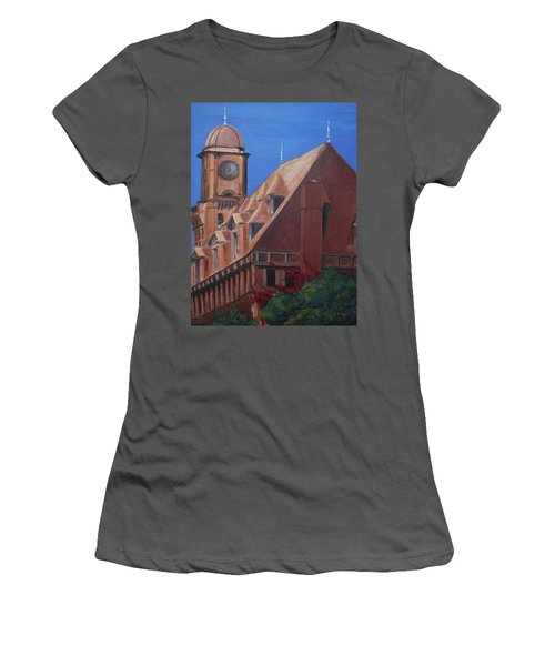 Women's T-Shirt (Junior Cut) featuring the painting Main Street Station by Donna Tuten