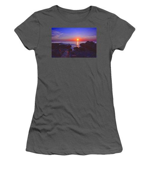 Maine Coast Sunrise Women's T-Shirt (Athletic Fit)
