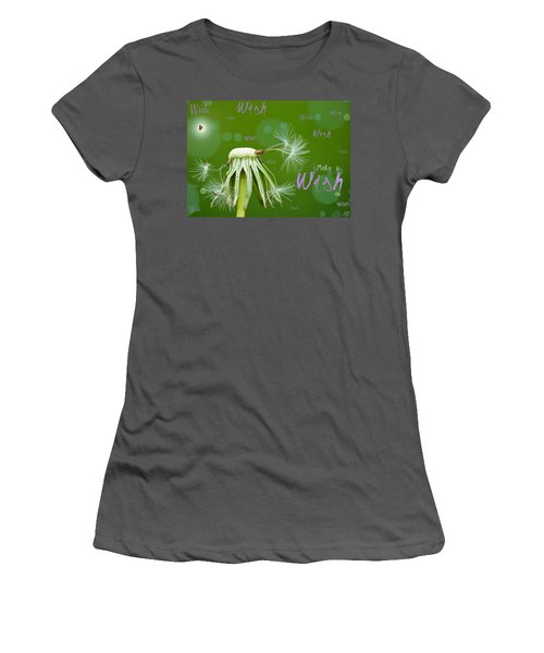 Make A Wish Card Women's T-Shirt (Athletic Fit)