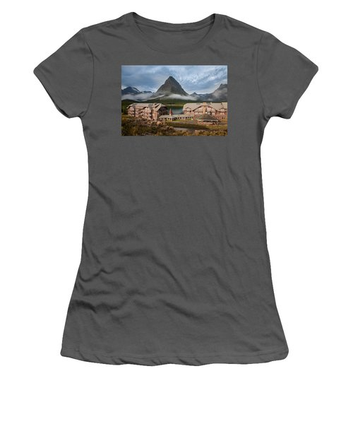 Many Glacier Hotel Women's T-Shirt (Athletic Fit)
