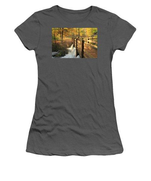 Maramec Bridge And Falls Women's T-Shirt (Athletic Fit)