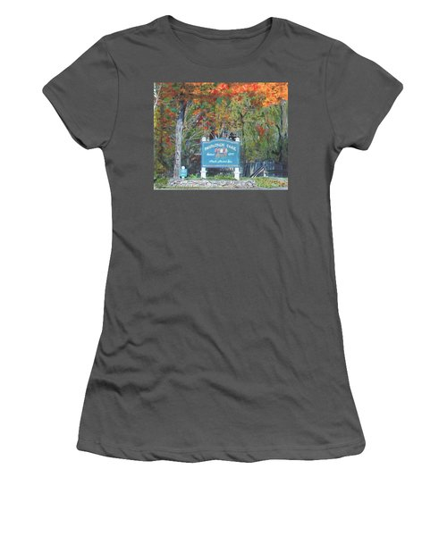 Marathon Park Women's T-Shirt (Athletic Fit)