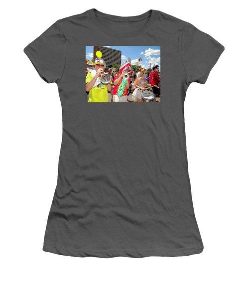Women's T-Shirt (Junior Cut) featuring the photograph Marching Band by Ed Weidman