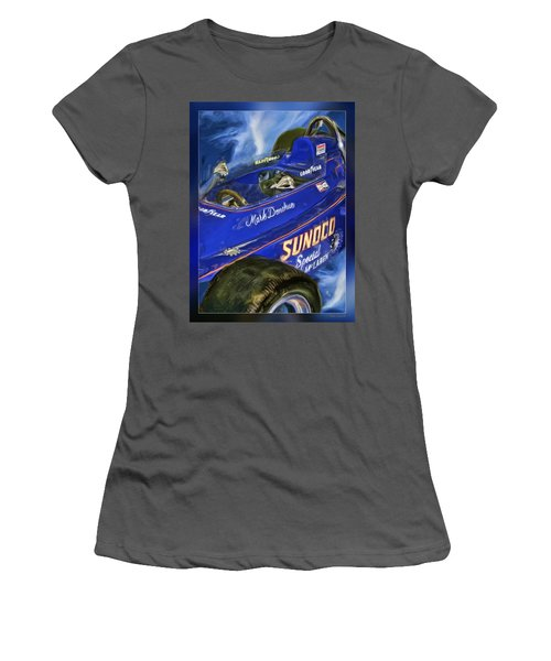 Mark Donohue 1972 Indy 500 Winning Car Women's T-Shirt (Athletic Fit)